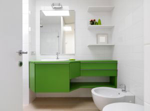 Зеленая и салатовая мебель для ванной - фото - 6435