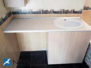 Бежевая и желтая мебель для ванной - фото - 5215
