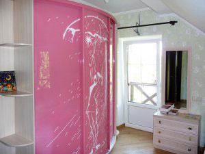 Розовые шкафы-купе - фото - 9044