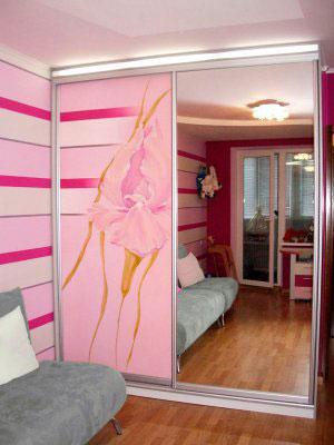Розовые шкафы-купе - фото - 9053