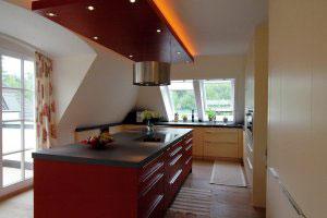 Красные кухни - фото - 9974