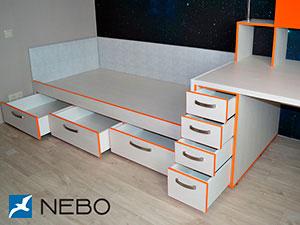 Белая детская мебель - фото - 5069