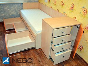 Бежевая и желтая детская мебель - фото - 5065