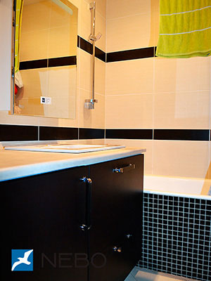 Черная мебель для ванной - фото - 5267