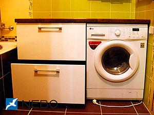 Бежевая и желтая мебель для ванной - фото - 5270