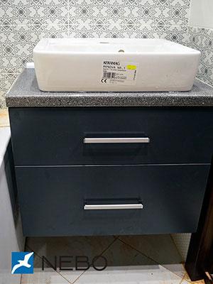 Черная мебель для ванной - фото - 5260