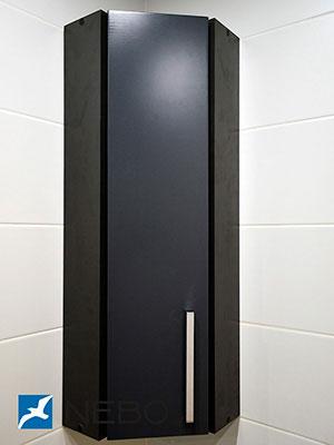 Черная мебель для ванной - фото - 5261