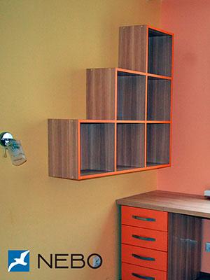 Оранжевые полки - фото - 6195