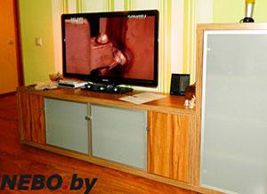 Оранжевые тумбы под телевизор - фото - 5684