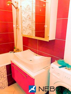 Красная мебель для ванной - фото - 5191