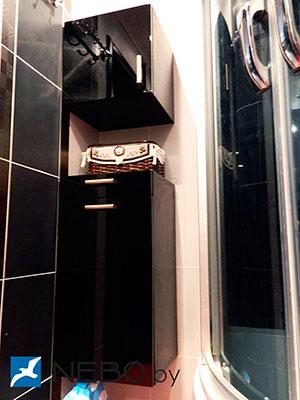 Черная мебель для ванной - фото - 5228