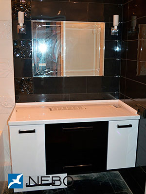 Черная мебель для ванной - фото - 5288