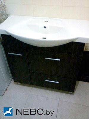 Черная мебель для ванной - фото - 5183