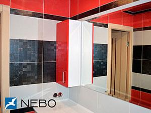 Красная мебель для ванной - фото - 5256