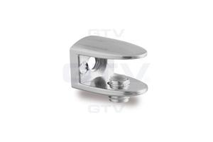 Стеклодержатель AJ-123 под стекло 4-8 мм, хром, 19x25x20 мм