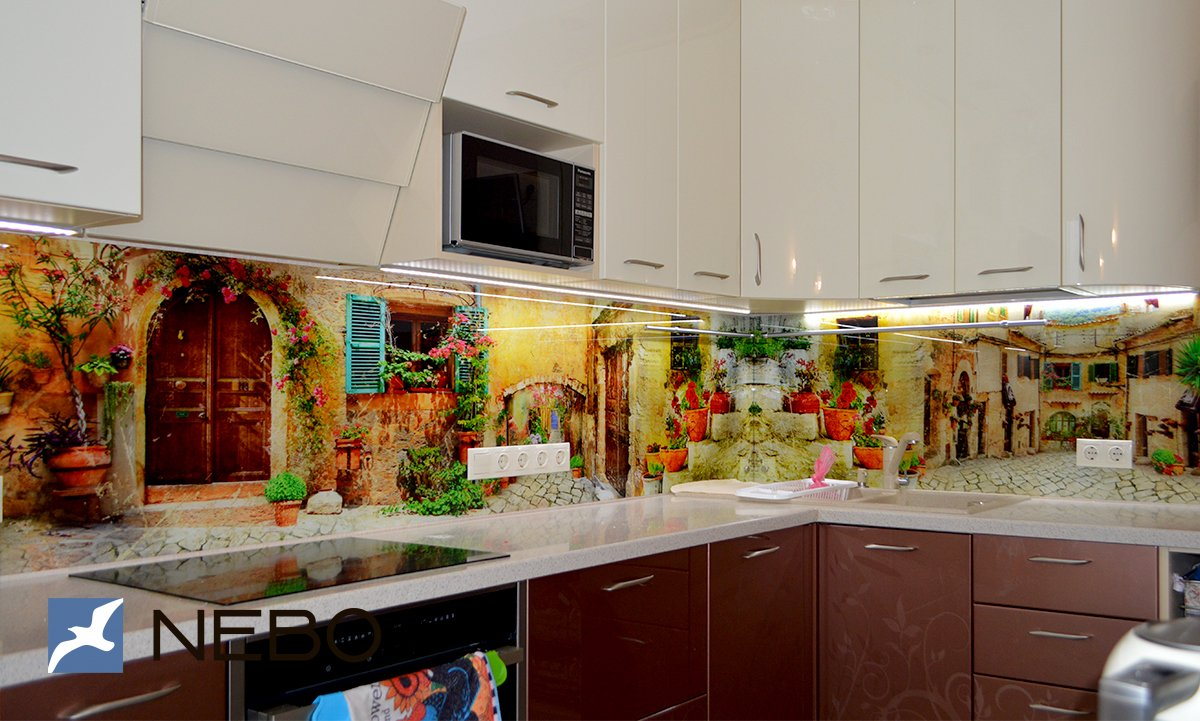 галерея изображений фотообои скинали для кухни квартира