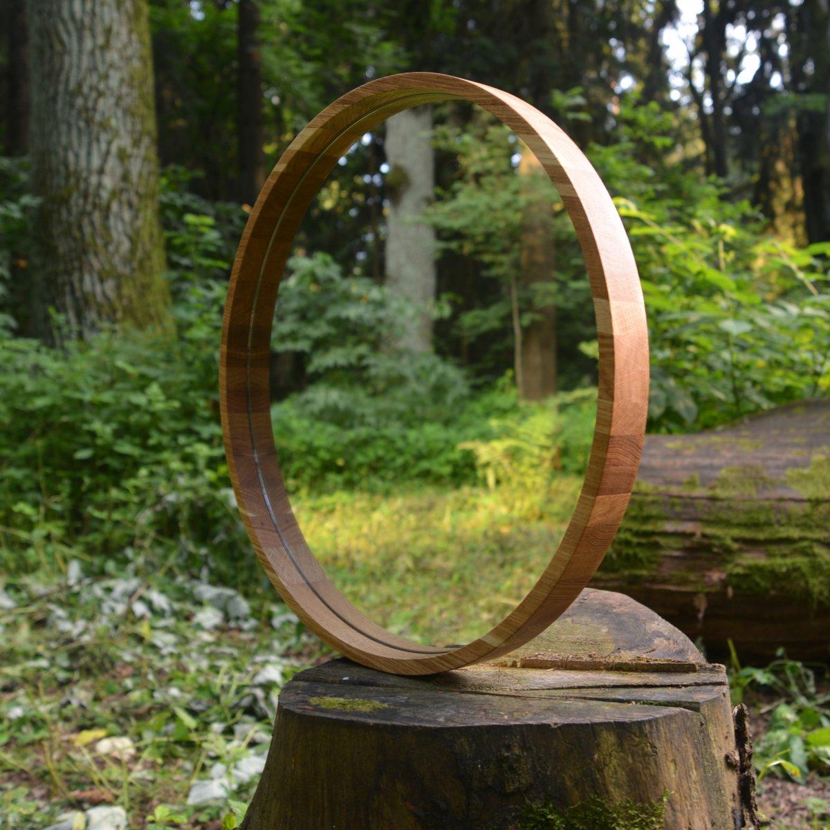 Зеркало D600 в дубовой раме