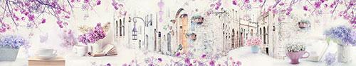 Скинали - Розово-фиолетовый коллаж в винтажном стиле