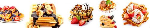Скинали - Бельгийские вафли на завтра с ягодами и шоколадом
