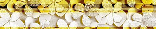 Скинали - Векторные франжипани с яркими полосками