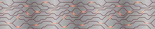 Скинали - Светящиеся линии на металлическом фоне