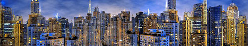 Скинали - Высотки Шанхая ночью с эффектом HDR