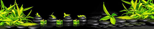 Скинали - Базальтовые камушки с бамбуком и каплями воды