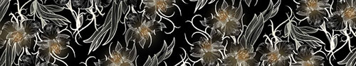 Скинали - Векторные цветы на черном фоне