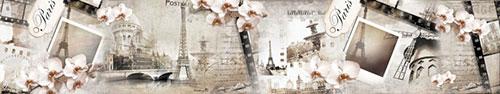 Скинали - Винтажный коллаж на тему Парижа