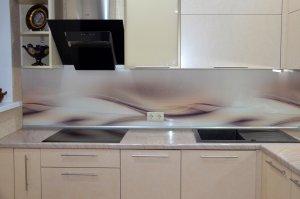 Волны для скинали в интерьере кухни - 22553