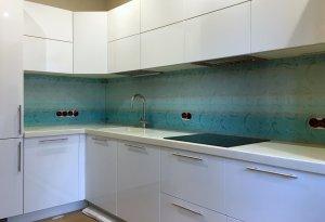 Узор для скинали в интерьере кухни - 22559