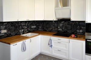 Меловая доска для скинали в интерьере кухни - 22784