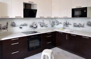 Венеция для скинали в интерьере кухни - 22789
