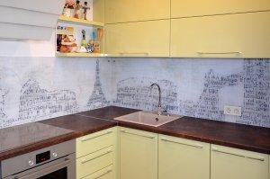 Париж для скинали в интерьере кухни - 22798