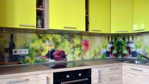 Фрукты, ягоды для скинали в интерьере кухни - 22810
