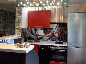 Париж для скинали в интерьере кухни - 22814