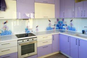Стрекозы для скинали в интерьере кухни - 22819