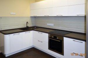 Линии, полосы для скинали в интерьере кухни - 22824