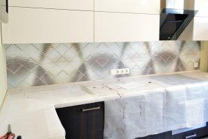 Металл для скинали в интерьере кухни - 22832