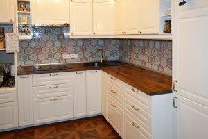 Узор для скинали в интерьере кухни - 22839