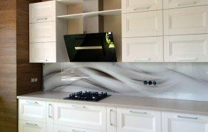Волны для скинали в интерьере кухни - 22840
