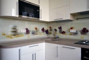 Гортензия для скинали в интерьере кухни - 22843