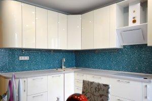 Узор для скинали в интерьере кухни - 22846