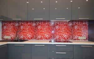 Цветочные для скинали в интерьере кухни - 22854