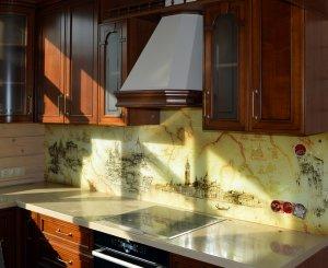 Венеция для скинали в интерьере кухни - 22855