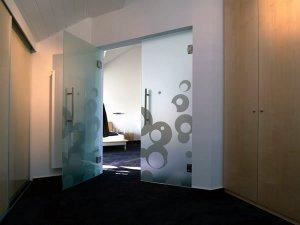 Стеклянные двери - фото - 22933