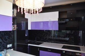 Цветочные для скинали в интерьере кухни - 23026