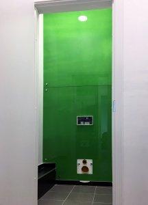 Отделка стен стеклом - 23029