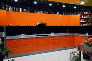 Скинали для оранжевой кухни - 23037