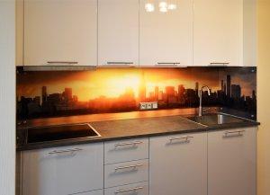 Чикаго для скинали в интерьере кухни - 23039